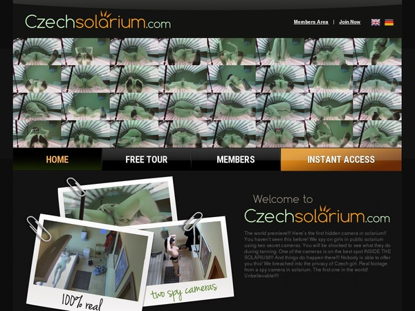 Get Czech Solarium Password