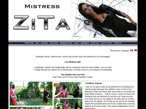 Free Mistress-zita.com Password
