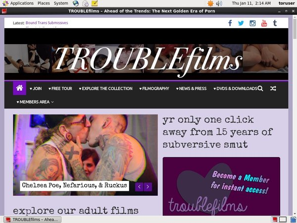 Trouble Films Sites